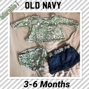 Baby girl 3-6 Months Old Navy Outfit